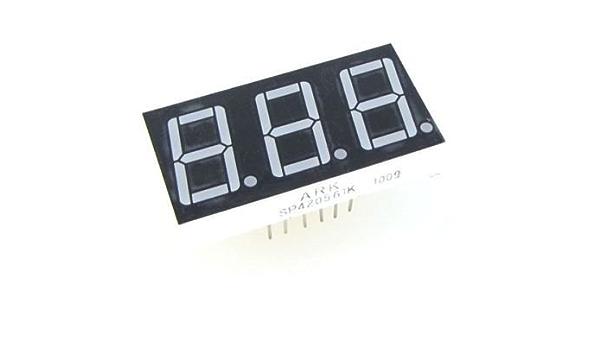 "LED 2,8/"" rot 7mm Anz.Z Display 1 7-segmentig 30÷60mcd  Anode FYS-2811BUHR-21 E"