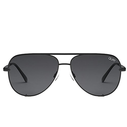 Black Little Mini - QUAY AUSTRALIA Women's High Key Mini QUAY X DESI Black/Smoke Polarized One Size
