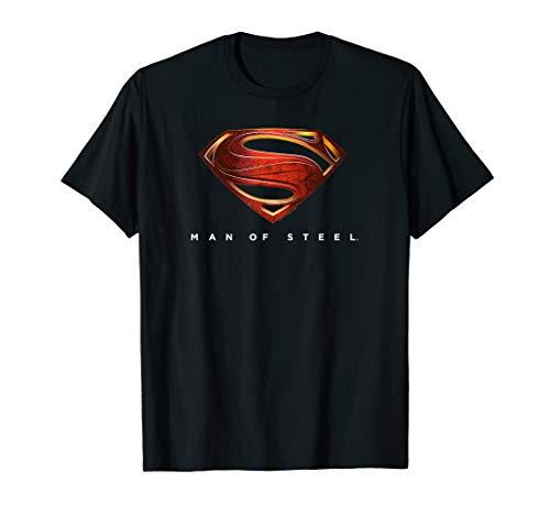 Superman Man of Steel New Logo T Shirt (General Zod T Shirt Man Of Steel)