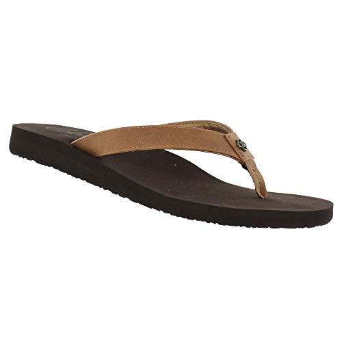 Cobian Skinny Bounce Women's Flip Flop Sandal - Caramel