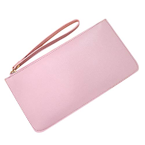 pollyhb Wallet, Women Ladies Long Section Large Capacity Double-Layer Clutch Bag Purse Pure Color Wallet
