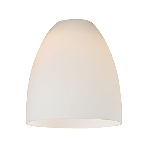 Bell Bottom Glass - White Glass Bell Shade - Lipless with 1-5/8-Inch Fitter Opening
