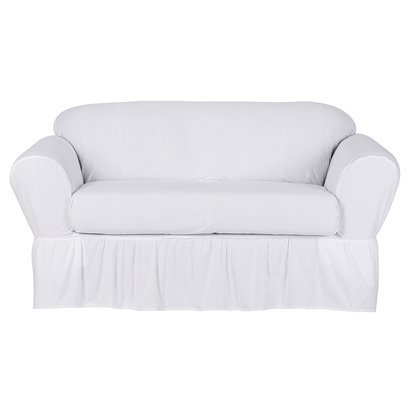 Amazon Com Simply Shabby Chic Cotton Duck Loveseat Slipcover