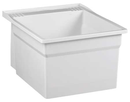 Laundry Tub, Wall, White, 20 In L, 24 In W by FIAT PRODUCTS