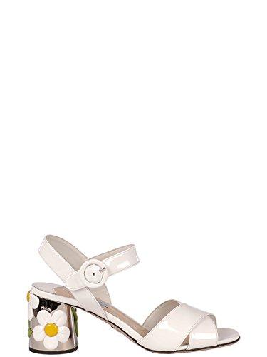 Femme Sandales Cuir 1x380h069f0009 Prada Blanc Snq4gdP