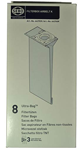 - Sebo Air Belt Type K Upright Vacuum Cleaner Bags