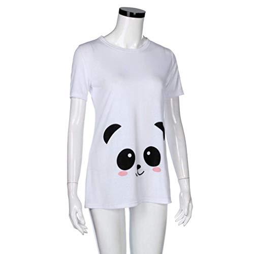 Style lgant Casual Spcial C Enceinte Et Modle Shirt Tshirt Impression Maternit Cartoon Courtes Rond Col Femme Caline Manches Mode Tops Confortable Allaitement PpfnUx7