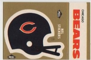 1983 Fleer NFL Football Chicago Bears Sticker/Schedule