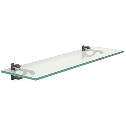 Fabulous Amazon Com Wall Mounted Glass Shelf 6 Inch Deep 6 X 36 Inch Home Interior And Landscaping Oversignezvosmurscom