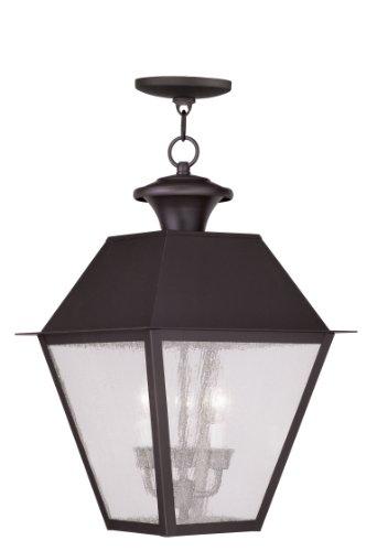Livex Lighting 2170-07 Mansfield 3-Light Outdoor Hanging Lantern, Bronze