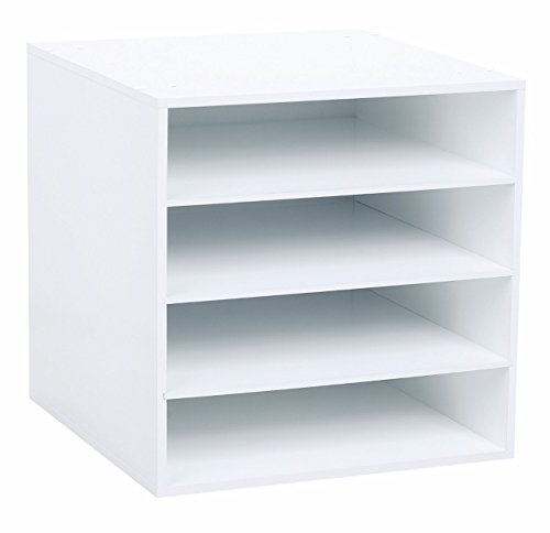 4-Shelf Craft Organizer Cube, White
