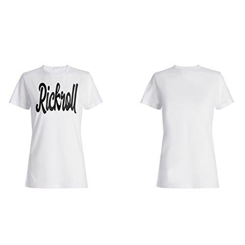Rickroll lustige Neuheit Damen T-shirt d474f