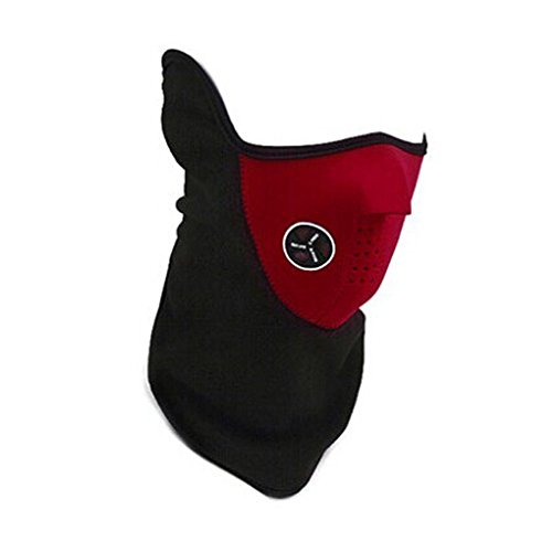 PANDA SUPERSTORE Face Gear Motorcycle Mask Cycling mask Dust Wind Protective Armor Red