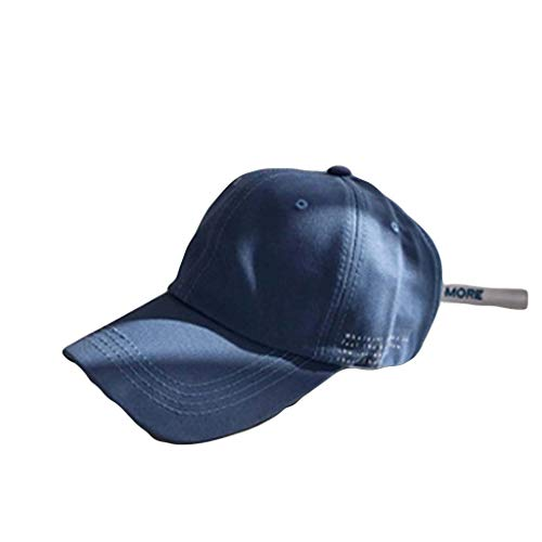 Fashion Tiny Letter Embroideried Baseball Cap,Crytech Hip Hop Adjustable Breathable Cotton Plain Dad Hat Outdoor Wild Low Profile Hip-Hop Sun Visor Sunhat for Women Men (Blue)