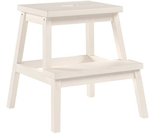 IKEA BEKVAM Home Indoor Solidwood Step Stool (White) 401.788.88