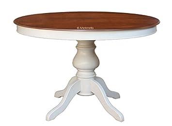 Amazonde Tisch Rund 110 Cm Ausziehbar 2 Farben