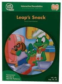 LeapFrog Tag InterACTIVE Decodable Level 2 Book Leap's Snack Grades K-2 - Tag School Book (Interactive Notepad)