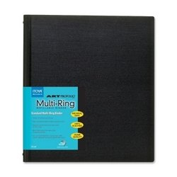 Itoya Rb1114 Multi-ring Binder, Refillable, 11 Inch X 14 Inch , Black