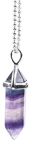 Winsome Faire Fluorite Stone Reiki Pendant Jewelry Necklace Chakra Healing Crystal (Pendant Crystal Fluorite)