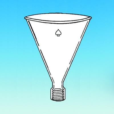 ACE GLASS 5822-45 Series Addition Funnel, with #15 Thred, 600 mL Capacity