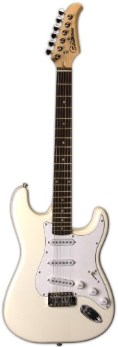 Silvertone SS15 WHT Solid-Body Electric Guitar, Gloss White by Silvertone