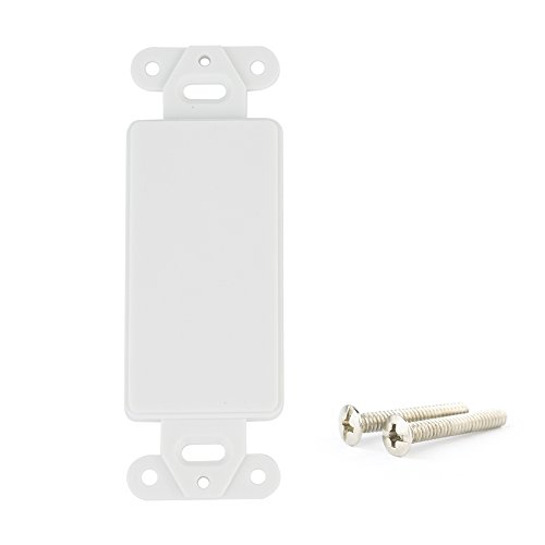 - Plastic Face plate Cover Single Port Wall 1 Gang With 2 Screws White, With Decora Device Wall plate/1 PORT/2 PORT/3 PORT/4 PORT/Outlet Wall Plate Internet. (Blank Port Outlet Decora)