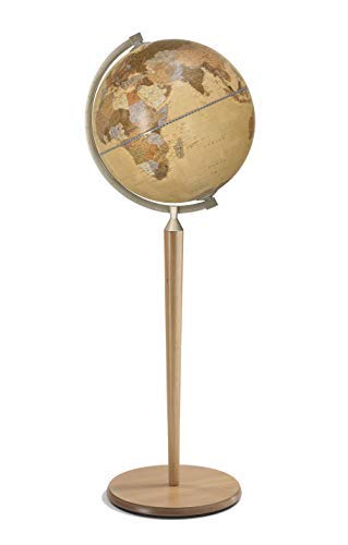 Zoffoli 16'' Vasco da Gama Floor Globe (Natural Stand with Apricot Ocean) by Zoffoli Globes USA (Image #5)