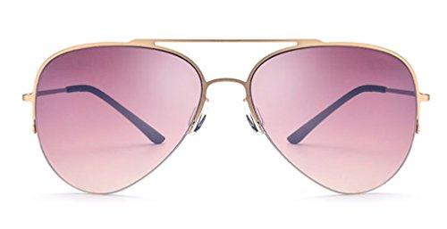 Ligeras Aleación de de Gafas Sol C B Las de Mujeres Marco de Gafas MOQJ Gafas Sol de Titanio Medio de Conducción de TvxEn7Z
