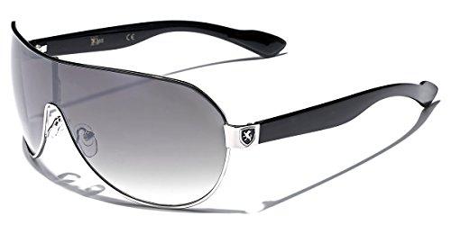 Men's Flat Top Sport Shied Aviator Sunglasses - Multiple Colors (Shield For Sunglasses Men)