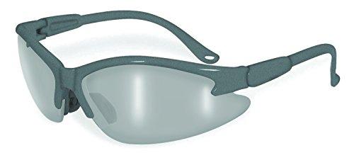 SSP Eyewear  Safety Glasses with Grey Frames & Silver Mirror