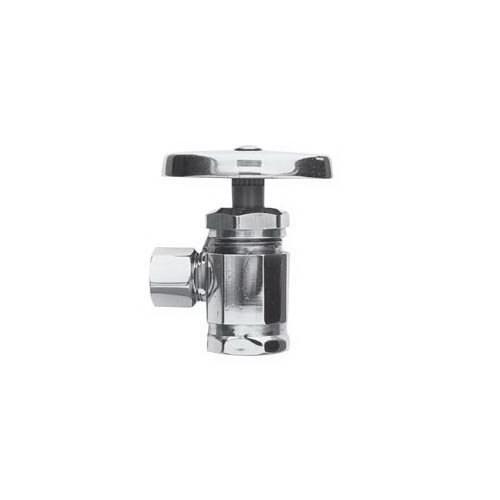 Brasstech 401/15S Brasstech 401 Angle Supply Stop Valve, 1/2 x 3/8 Inch, IPS x Compression, Oval Handle, 125 psi, Media Water by BrassTech