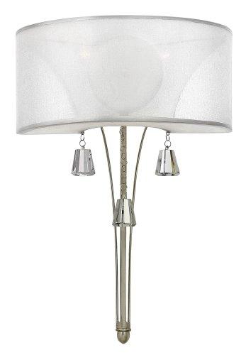 Fredrick Ramond Crystal Sconce (Fredrick Ramond FR45602BNI, Mime Torchiere Crystal Wall Sconce Lighting, 120 Watt,)