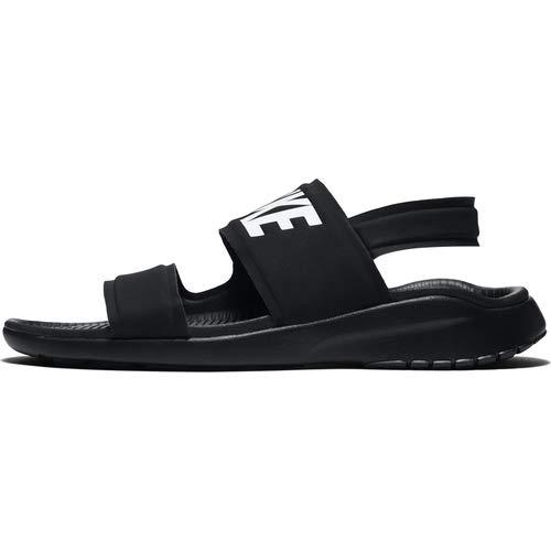 Nike Women's Tanjun Sandals, Black/White-Black ()