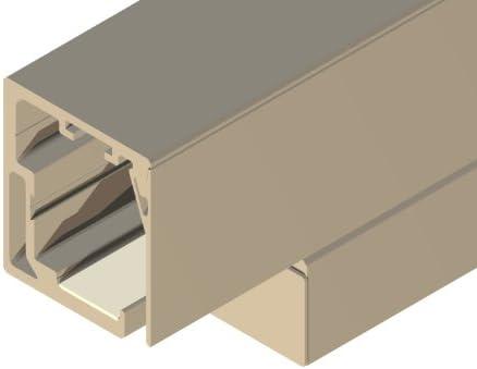 Cristal-Herraje de puerta corredera de Cuba, para puertas correderas sin marco, de la puerta de ancho de 735 mm, 10 mm de grosor: Amazon.es: Bricolaje y herramientas