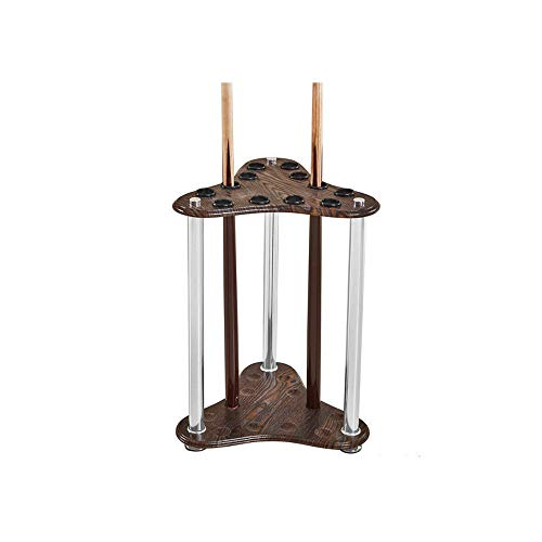 Grief Grocery Store Floor-Standing 12-Hole Pool Cue Bracket - Cue Racks for Solid Wood and Stainless Steel