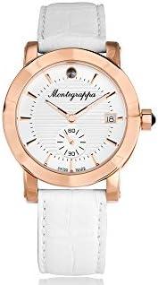 Montre à quartz Montegrappa Nero Uno Ladies, PVD Or rosé, Blanc, 36mm, IDLNWA10