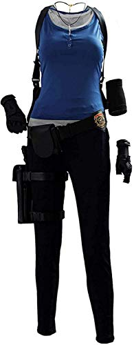 Women's Jill Valentine Cosplay Costume Game Uniform Outfit for Halloween