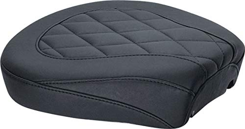Mustang 76695 Wide Tripper Passenger Motorcycle Seat with Diamond Stitching for Harley-Davidson 2008-19, Black