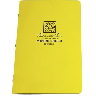 Rite in the Rain #361FX Metric Field Notebooks, 4 5/8'' x 7'', Pkg. of 3 By Tabletop King by Tabletop King