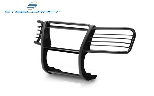 Steelcraft 52270 Custom Fit 2009-2016 Dodge Ram 1500, Will Interfere with Sensors if Equipped, Grill Bumper Brush Guard Bull - Guard Steelcraft Grill