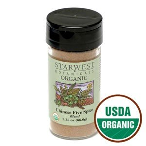 Organic Chinese Five Spice Powder Jar 2.35 Oz - Starwest Botanicals