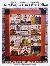 Village of Hawk Run Hollow Cross Stitch Chart by Carriage House Samplings