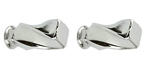 Lowrider 2 - Twisted Square Nuts 3/8 x 26t Chrome. Bicycle nut, bike nut, beach cruiser, chopper, mountain, limo by Lowrider (Image #1)