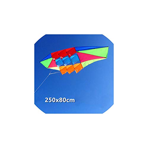 Kites Outdoor Toys Kites for Adult and Children Pure Manual 2.5 Meters Power Kite Colorful Cloth Radar Kite Good Flying Kites,Without String ()