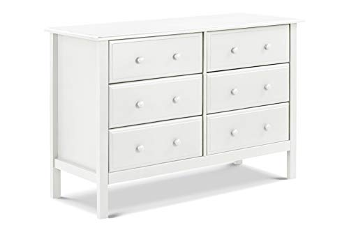 Davinci Jayden 6 Drawer Double Dresser, White