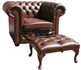 Excellent Chesterfield Low Back Armchair Antique Tan Leather Sofa Onthecornerstone Fun Painted Chair Ideas Images Onthecornerstoneorg