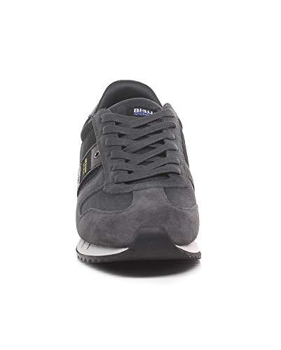 Blauer Uomo Grey Cam Scamosciata Fw Scarpe 18 19 Pelle Memphis04 xq5rqwI