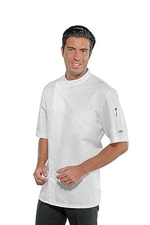F.I.C. 3XL Isacco Giacca cuoco Bilbao Bianco+Italy Bianco+Italy Manica Lunga 65% Poliestere 35% Cotone