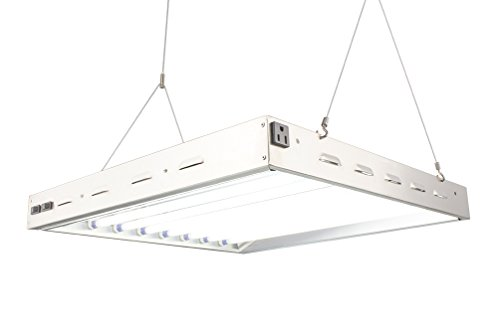 Durolux T5 HO Steel Grow Light - 2 Ft 8 Bulbs - DL8028ST Fluorescent w 6500K and 20000 Lumen Grow Light System Comes with 8 Bulbs, 192 Watts