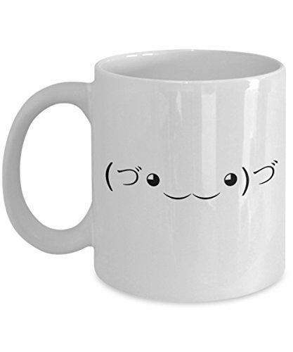 The Cute Assassin Meme (づ。◕‿‿◕。)づ - Funny and Sarcastic Text Face Emoji Gift - Unique Coffee Mug - AIE Inspirations